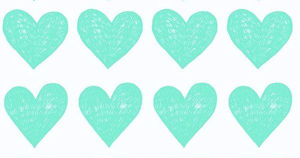 Aqua Heart Pattern