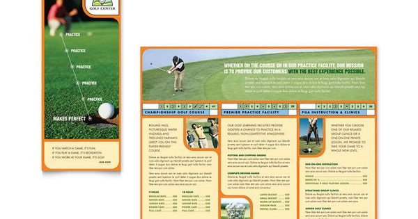 golf instructor and course brochure design template by