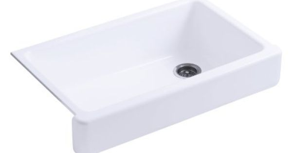Short Apron Front Sink : Self-Trimming Apron Front Single Basin Sink with Short Apron ...