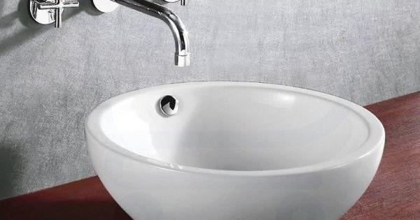 Ronde waskommen met kranen uit de muur mijn droom badkamer pinterest met - Badkamer muur tegels porcelanosa ...