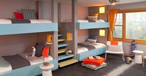 moderne kinderbetten f r geschwister treppe statt leiter. Black Bedroom Furniture Sets. Home Design Ideas