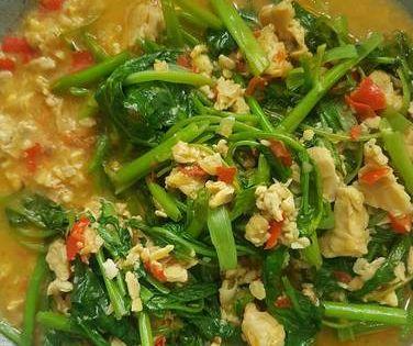 Resep Tumis Kangkung Dan Tempe Oleh Echie Silviani Resep Tumis Resep Masakan Resep