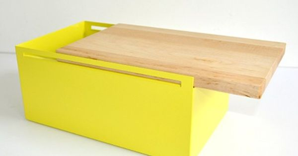 steel bread box yellow by my kilos monoqi products i love pinterest bread boxes and steel. Black Bedroom Furniture Sets. Home Design Ideas