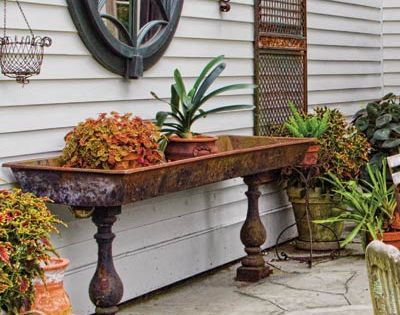 Really like this trough planter . . .