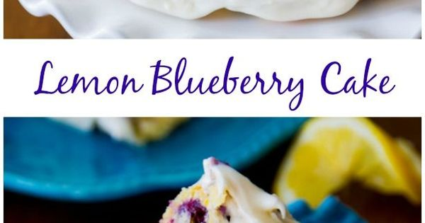 Sunshine-sweet lemon layer cake recipe dotted with juicy blueberries and topped with