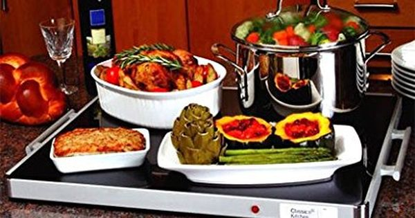 Deluxe Glass Buffet Warming Tray For Shabbat Shabbat Hot Plate
