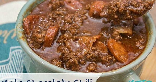 Keto Chocolate Chili Recipe - Three meats and a whole lotta taste! Best Keto Chili recipe I've ...