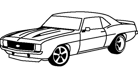 Chevrolet Camaro 1969 Coloring Page Projects To Try