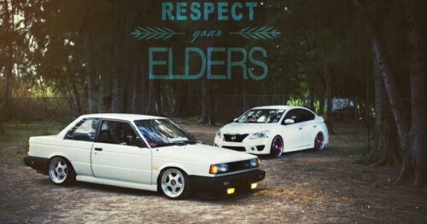 Nissan Sentra B12 old and new stanced jdm | Import Old ...