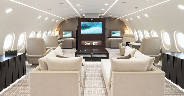 ce boeing 787 dreamliner a t transform en jet priv de. Black Bedroom Furniture Sets. Home Design Ideas