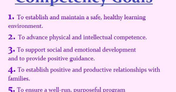 6 Cda Competency Goals Cda And Ece Pinterest Child