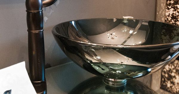 Raised Sink Bowls : Sinks, Bowl sink and Powder rooms on Pinterest