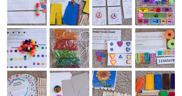 PRE K BUSY BAG IDEAS