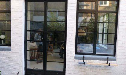 Black Royale Door With Kickplate Youchoosewindows Co Uk Aluminium French Doors French Doors French Doors Exterior