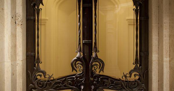 Iron doors. ART NOUVEAU... I just think the door is cool
