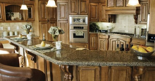 Kitchen Design Ideas Rustic traditional medium wood-brown kitchen cabinets | for the home