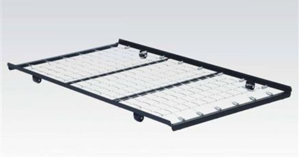Acme Furniture Frame Twin Roll Out Trundle Bed Frame With Link