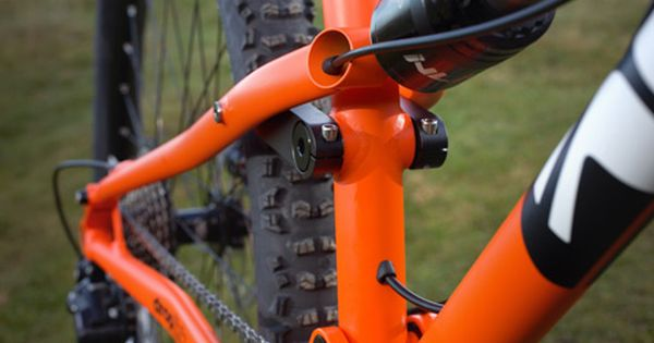 The Frame Has Both External And Internal Stealth Dropper Post Remote Routing Bike Full Suspension Mountain Bike Stationary Bike