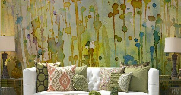 Watercolor Mural Wallpaper Statement Accent Wall