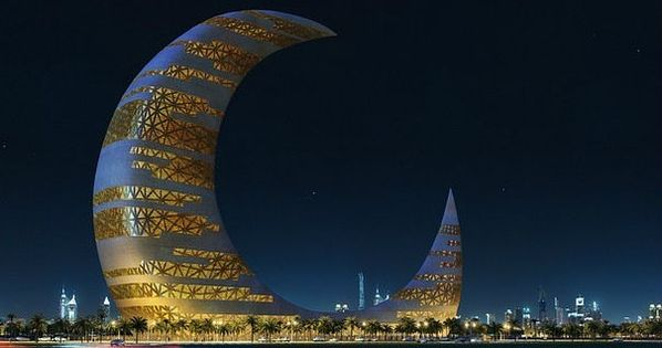 Skyscraper-Crescent Crescent Moon Tower (Dubai). So futuristic! On my bucket list!