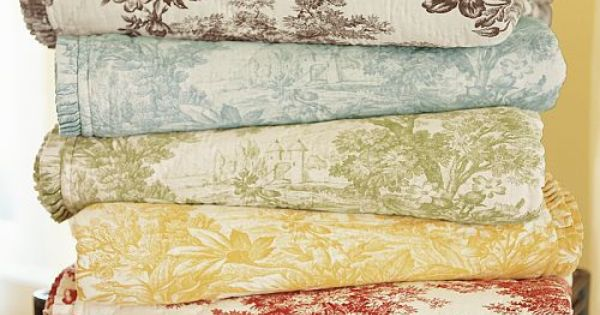 Pottery Barn Toile Bedding