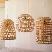 Hanging Basket Pendant Light Cylinder Eclectic Goods Basket
