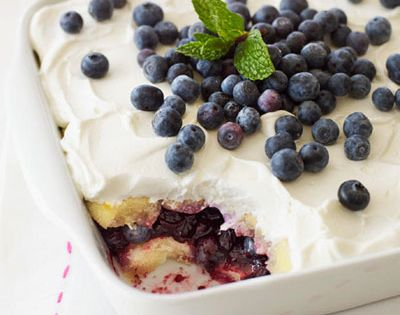 Blueberry Lemon Tiramisu dessert