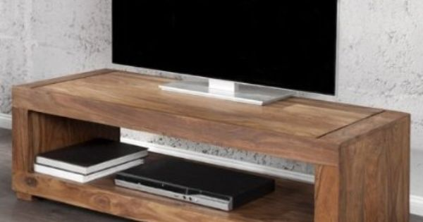 Cagu Tv Tisch Fernsehtisch Mumbai Aus Sheesham Massiv Holz Gewachst 120cm Amazon De Kuche H Living Room Tv Stand Television Tables Floating Shelves Diy