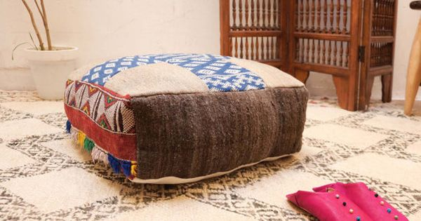 Moroccan Cushion Ottoman Moroccan Square Pouf 24 Ottoman Pillow Berber Pillow Handmade Kilim Moroccan Pouf Ottoman Foot Moroccan Cushions Square Pouf Ottoman