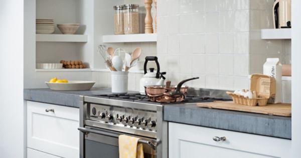 Zwart Witte Keukentegels : witte keuken betonnen vloer - Google zoeken ...