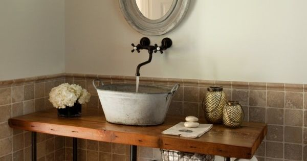 furniture magnificent rustic powder room vanities with ...