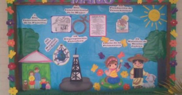 Periodico mural 5 wall news pinterest bulletin for Como decorar un mural