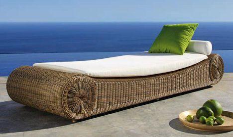 Manutti Orlando Sunbed Outdoor Wicker Furniture From Manutti The