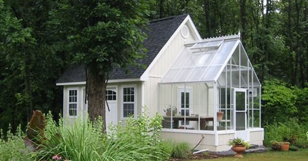 Tiny White House With Sun Room Or Greenhouse Attached So Splendid Living Space Pinterest White Houses