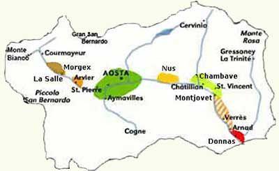 Cartina Fiumi Valle D Aosta.Geografia Maestralia