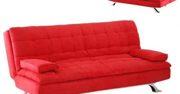 Sof cama clic clac de microfibra miami rojo muebles - Sofas de microfibra ...