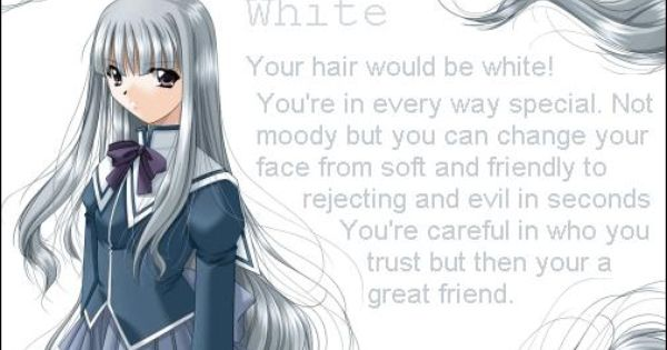 Anime Hair Color Anime Hair Color Anime Hair Hair Color Chart