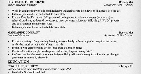 Electrical #Designer Resume Sample (resumecompanion.com) | Resume ...