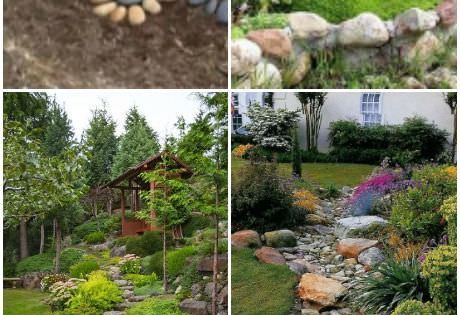 Fabulous Ideas For Landscaping with Rocks  정원, 조경 및 조경 아이디어