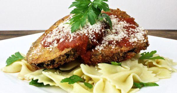 Farfalle pasta, Eggplant parmesan and Eggplants on Pinterest