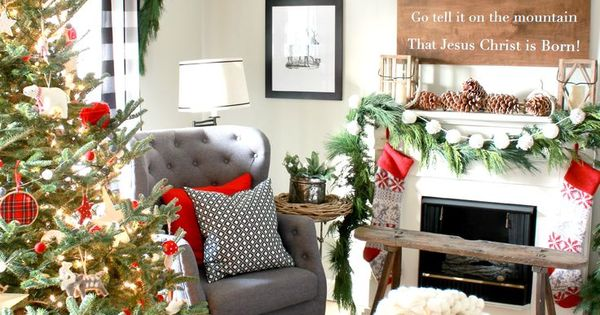 2015 Christmas Home Tour Part 1 Hymns And Verses Xmas Decorating