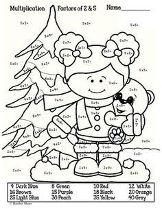 Multiplication Winter By Heather Mears Christmas Math Worksheets Christmas Math Multiplication