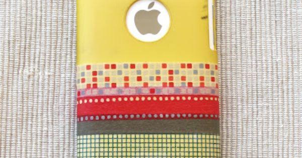 jolie id e pour customiser sa coque de t l phone portable avec du washi tape coques. Black Bedroom Furniture Sets. Home Design Ideas