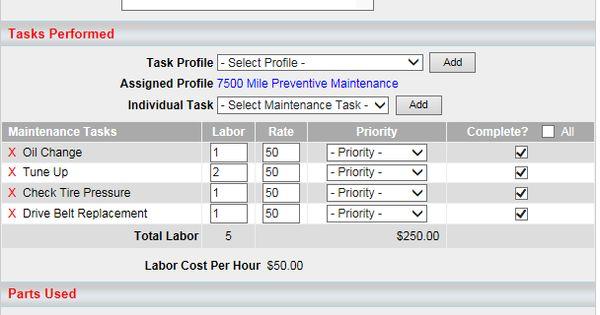 create vehicle profiles track preventative maintenance schedules and manage work ticket tasks. Black Bedroom Furniture Sets. Home Design Ideas