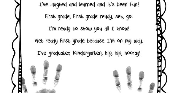 End of the Year Poem! But change kindergarten to preschool and 1st