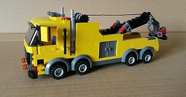 Lego City Custom Heavy Hauler Tow Truck Yellow L K Lego City Lego Truck Lego