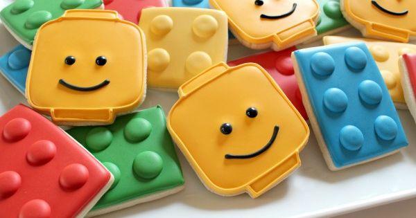 Easy Lego Cookies - lego birthday party!