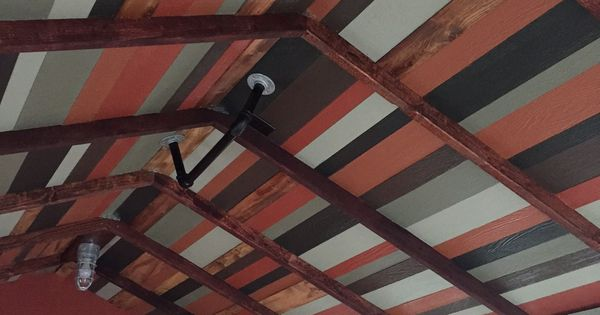 This Multi Colored Reclaimed Wood Ceiling Fits Perfectly
