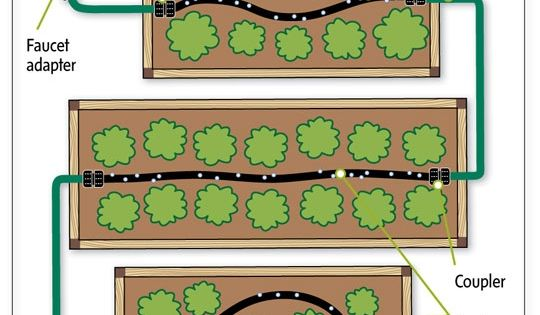 Homestead Survival: A new way to make watering raised garden beds efficient