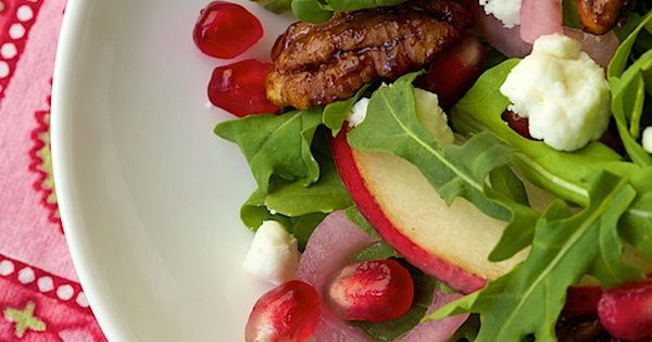 Arugula, Pomegranate and Pear Salad | Recipe | Pears, Pomegranates and ...